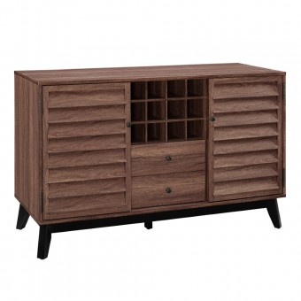 Bar Cabinet Wine Storage Walnut Vaughn 7904096COM by Dorel