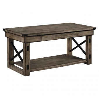 Coffee Table Rustic Grey Wildwood Living Room Table 5056096PCOMUK by Dorel