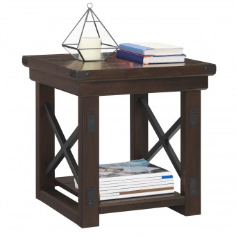Accent Table Espresso Wildwood Lamp Table 5050196COMUK by Dorel