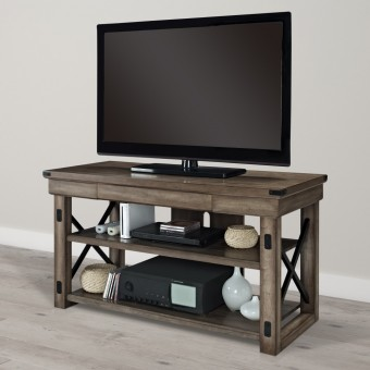 TV Stand Rustic Grey Wildwood TV Unit 1735096UK by Dorel