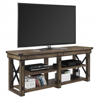 TV Stand Rustic Grey Wildwood Widescreen TV Unit 1768096PCOMUK by Dorel
