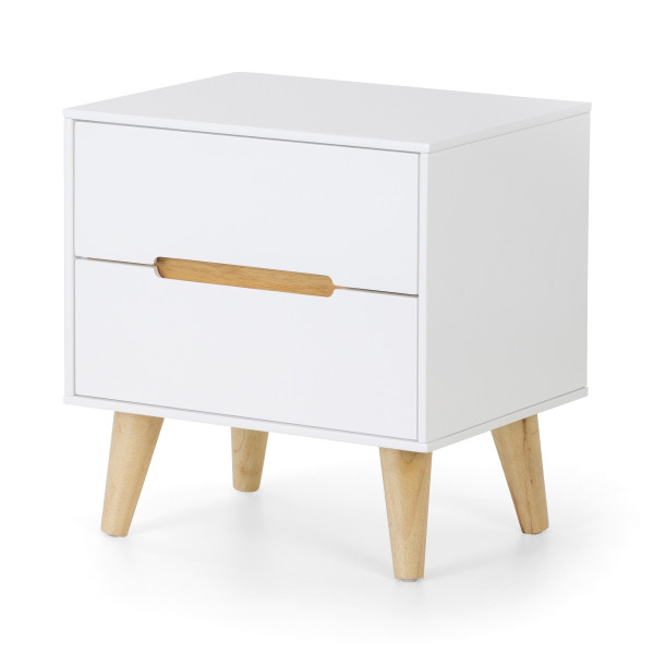 Bedside Chest 2 Drawer Julian Bowen Alicia Bedside Cabinet ALI201