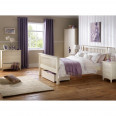 Julian Bowen Cameo White 3 Piece Furniture Set - Wardrobe, 4+2 Drawer Chest and Bedside Cabinet CAM901