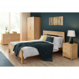 Julian Bowen Curve Oak 3 Piece Furniture Package - Wardrobe, 3 Drawer Chest and Bedside Cabinet CUR501