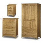Julian Bowen Kendal 3 Piece Package - Combination Wardrobe, 4+2 Drawer Chest and Bedside Cabinet KEN906