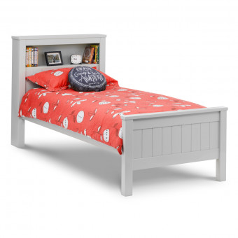 Childrens Bed Grey Maine Bookcase Bed MAI013 Single Bed Frame by Julian Bowen