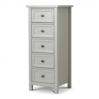 Chest of Drawers - Maine Grey 5 Drawer Bedroom Chest MAI004