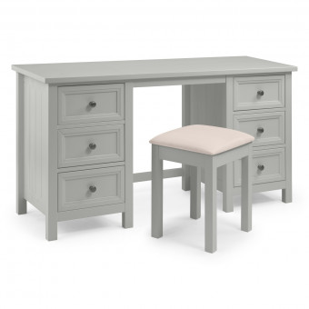 Dressing Tables - Julian Bowen Maine Dove Grey Dressing Table MAI011