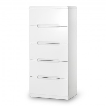 Chest of Drawers Manhattan 5 Drawer Narrow Chest MAN204 by Julian Bowen