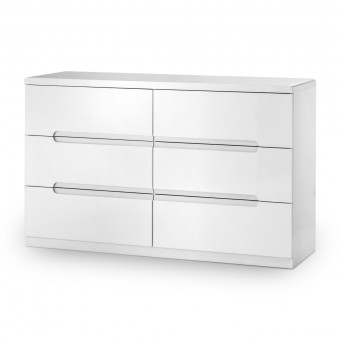 Julian Bowen Manhattan 6 Drawer Wide Chest of Drawers MAN205