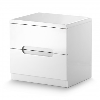 Julian Bowen Manhattan 2 Drawer Bedside Chest MAN201
