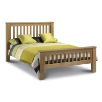 Oak Double Bed Marlborough HFE AMS001  (4ft6) by Julian Bowen HFE AMS001