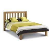 Oak Double Bed Marlborough LFE AMS004 135cm (4ft6) by Julian Bowen