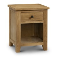 Bedside Cabinet - Marlborough Oak 1 Drawer Bedside Chest MAR201
