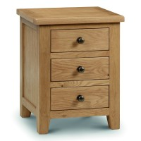 Bedside Cabinet - Marlborough Oak 3 Drawer Bedside Chest MAR202
