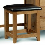 Dressing Table Stool Marlborough Oak MAR212 by Julian Bowen
