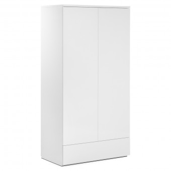 Double Wardrobe 2 Door Monaco White MON804 by Julian Bowen