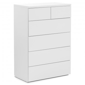 Chest of Drawers 4+2 Drawer Chest Monaco White MON802 by Julian Bowen