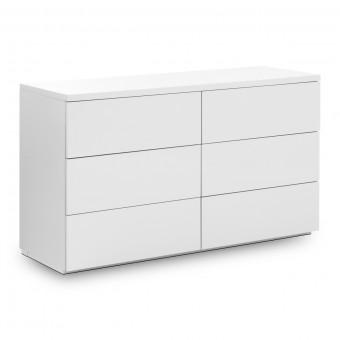 Chest of Drawers 6 Drawer Chest Monaco White MON803 by Julian Bowen