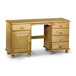 Julian Bowen Pickwick Twin Pedestal Dressing Table PIC113