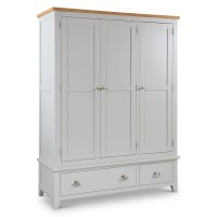 3 Door Wardrobe - Richmond Grey and Oak Triple Wardrobe RIC305