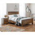 Double Bed Hoxton Solid Acacia 135cm 4ft6 Bed HOX001 by Julian Bowen