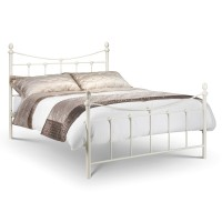 Julian Bowen Rebecca 135cm (4ft6) Double Bed REB003 - Stone White