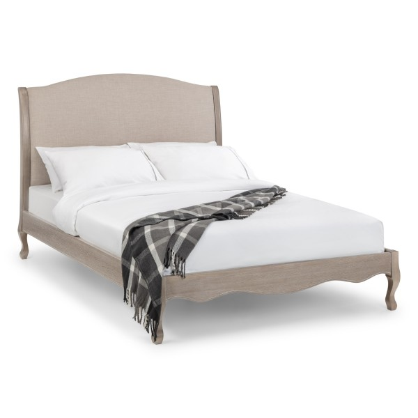 Oak Bed Camille King Size Bed Frame 150cm (5ft) CAM302 by Julian Bowen