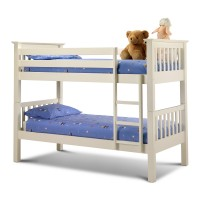 Julian Bowen Barcelona Bunk Bed Stone White BAR015