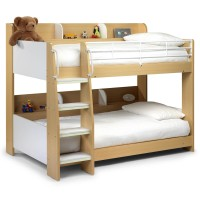 Childrens Beds - Domino Maple Bunk Bed with two Premier Mattresses DOM901
