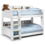 Childrens Beds - Domino White Bunk Bed with two Premier Mattresses DOM902