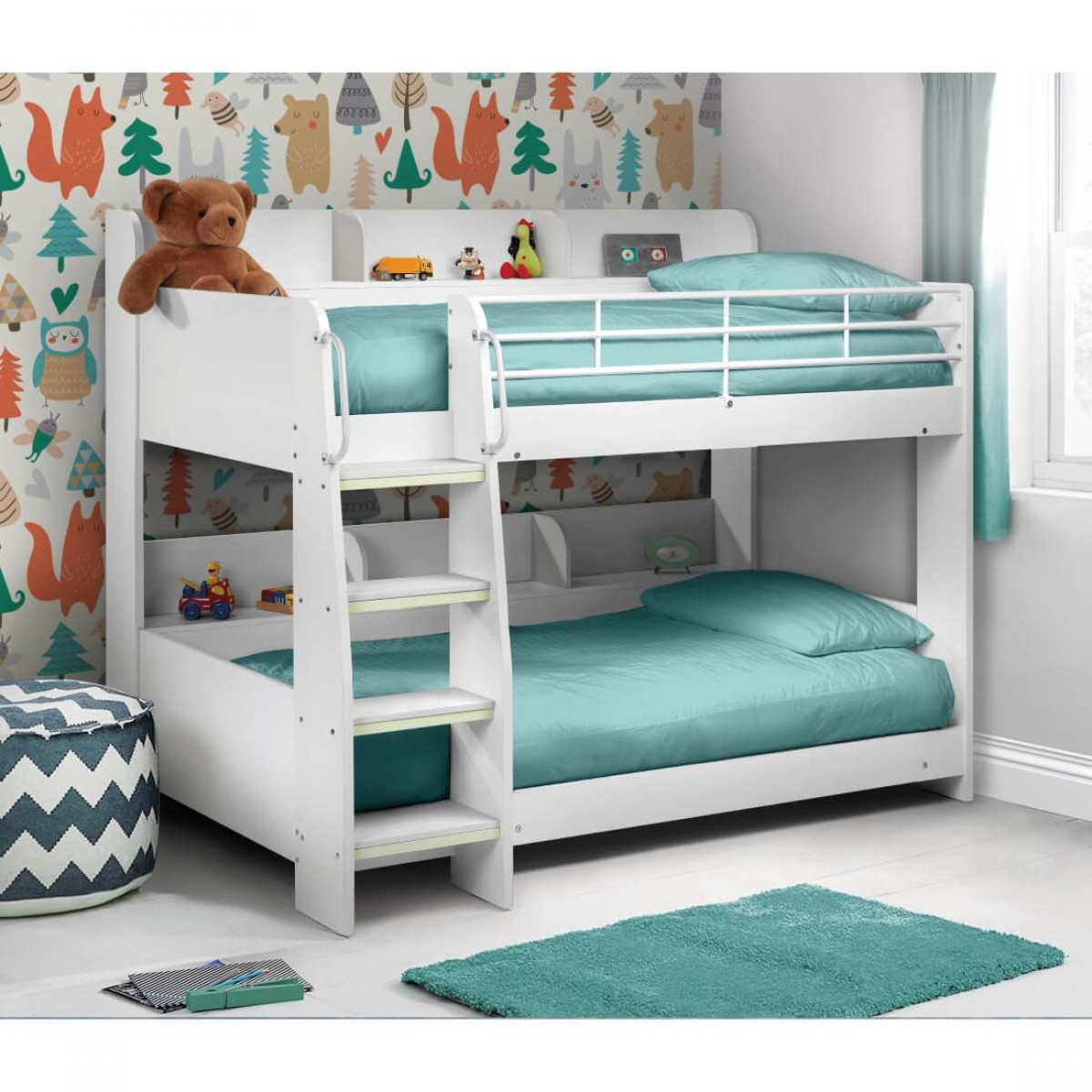 julian bowen domino white bunk bed dom002. Black Bedroom Furniture Sets. Home Design Ideas