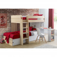 Bunk Bed Oak and White Eclipse Childrens Bed ECL101 by Julian Bowen