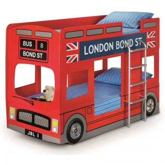 Childrens Beds - Julian Bowen London Bus Bunk Bed in Red LON001