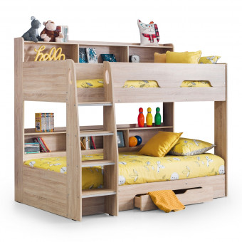 Bunk Beds - Orion Oak Bunk Bed Julian Bowen ORI001 Kids Bed