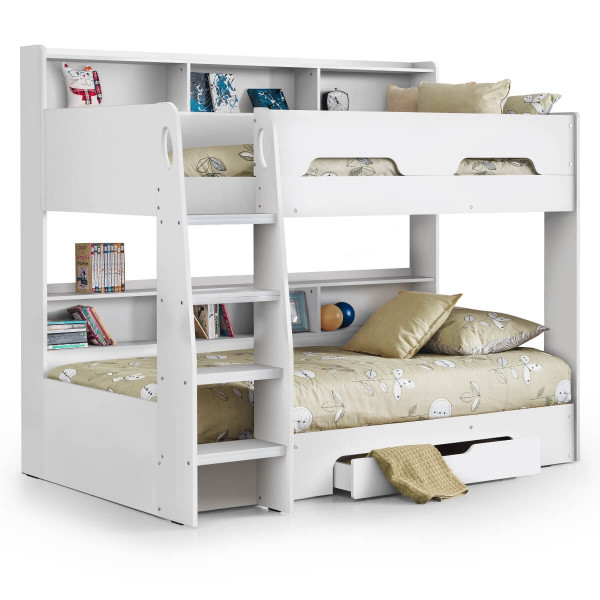 Bunk Beds - Orion White Bunk Bed Julian Bowen ORI002 Kids Bed