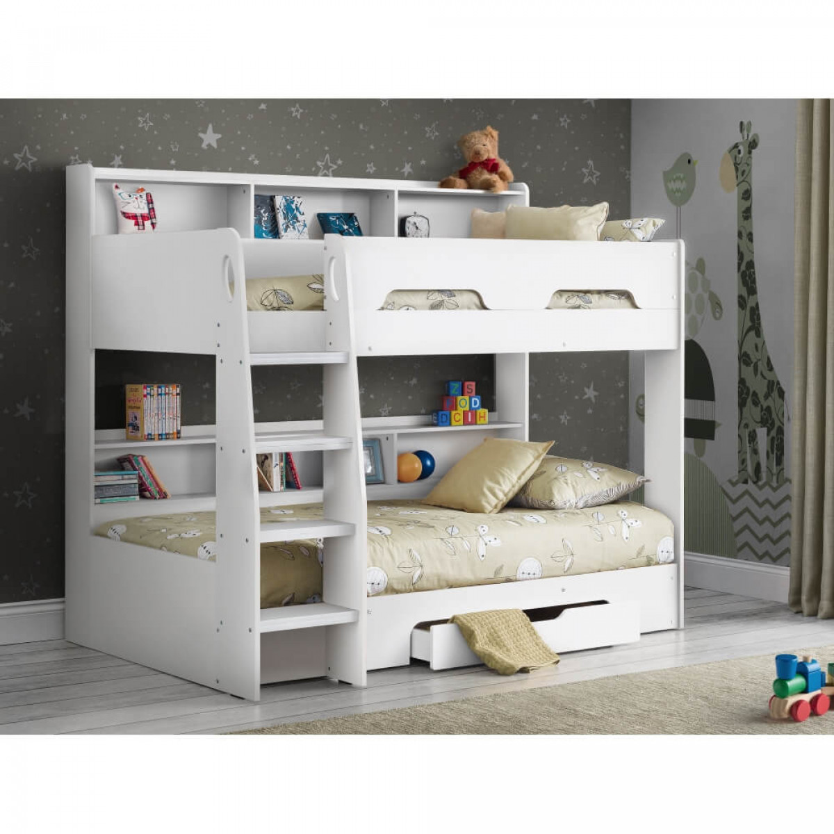 bunk beds orion white bunk bed julian bowen ori002. Black Bedroom Furniture Sets. Home Design Ideas