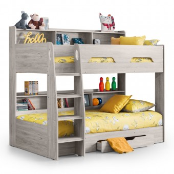 Bunk Bed Grey Oak Orion Childrens Bed ORI004 by Julian Bowen