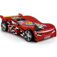 Childrens Beds - Julian Bowen Scorpion Racer Bed in Red 90cm (3ft) SCO001