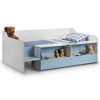 Childrens Beds - Julian Bowen Stella Low Sleeper Bed - Blue STE102
