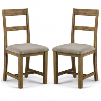 Dining Chair - Pair of Julian Bowen Aspen Pine Dining Chairs ASP002
