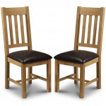 Dining Chair - Pair of Julian Bowen Astoria Oak Dining Chairs AST010