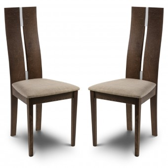 Dining Chair - Pair of Cayman Walnut Dining Chairs CAY102