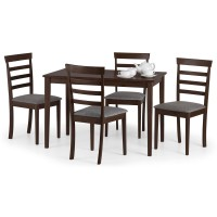 Dining Set - Cleo Dining Table and 4 Dining Chairs in Mahogany CLE901