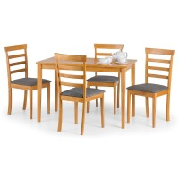 Dining Set - Cleo Dining Table and 4 Dining Chairs in Oak CLE008