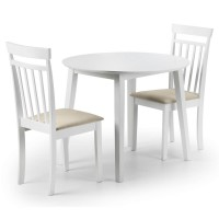 Dining Set - Coast Dining Table and 2 Dining Chairs in White COA004