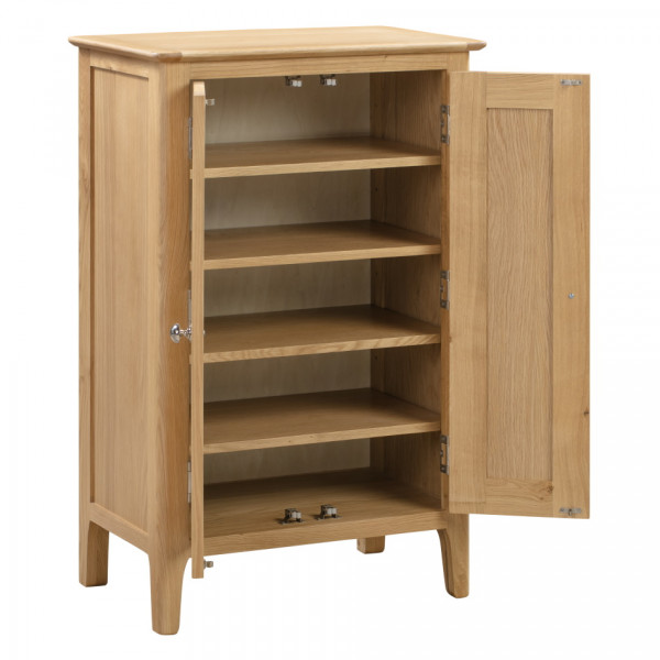 Shoe Storage Cupboard Cotswold Oak Shoe Cupboard COT112 by Julian Bowen