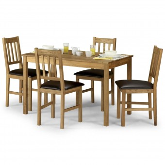 Dining Set - Coxmoor Dining Table and 4 Dining Chairs in Solid Oak COX009