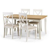 Julian Bowen Davenport Dining Table with 4 Chairs