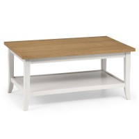 Coffee Tables - Julian Bowen Davenport Coffee Table DAV007 in Ivory